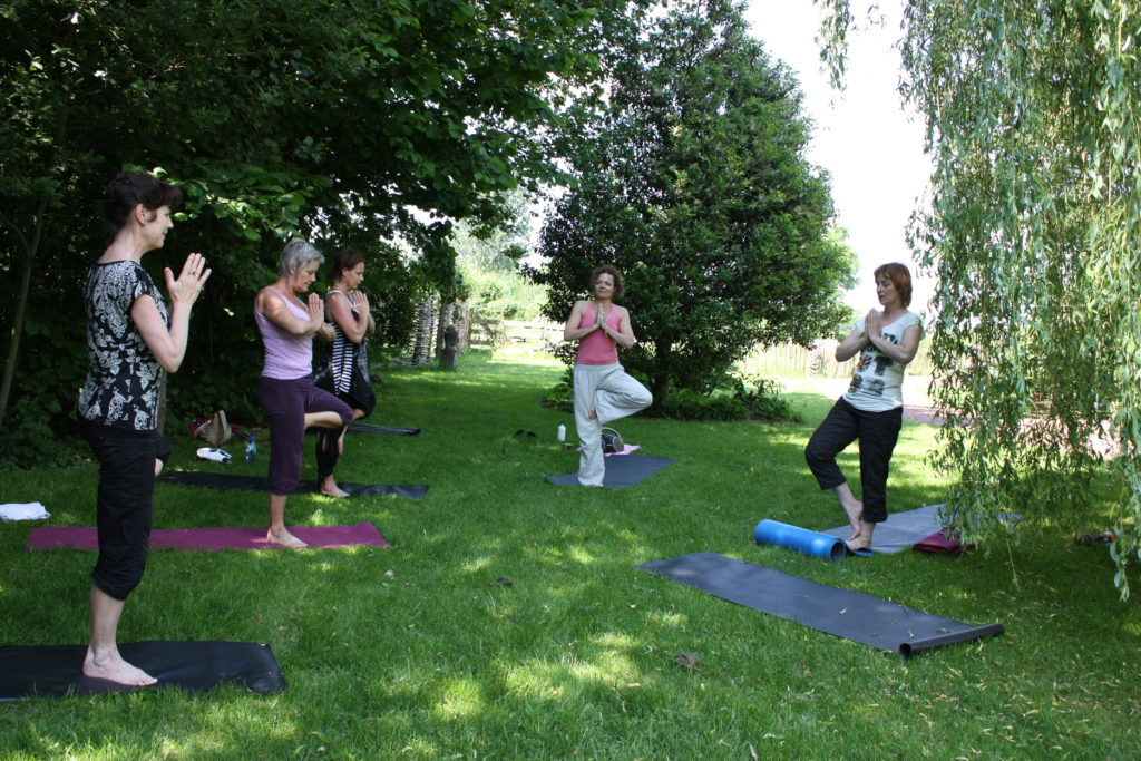 yoga in de theetuin